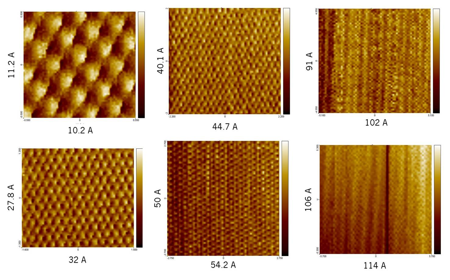 Atomic scale imaging of graphite surface (HOPG)